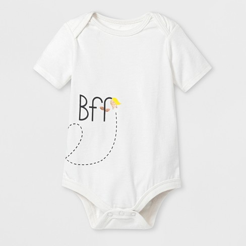 Baby 'BFF' Graphic Bodysuit - Cat & Jack™ Almond Cream - image 1 of 2
