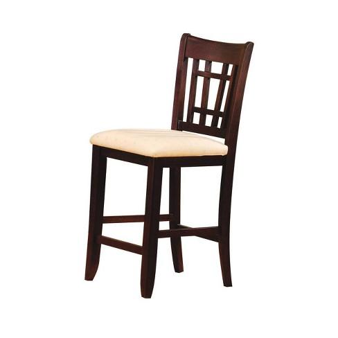 Set of 2 Lugano Bar Chair Fabric Dark Walnut Brown - Acme - image 1 of 1