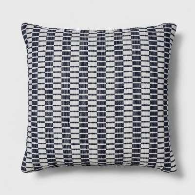 Woven Linework Oversized Square Throw Pillow Blue - Project 62™
