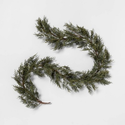 """72"""" Faux Cypress Garland - Hearth & Hand™ with Magnolia"""