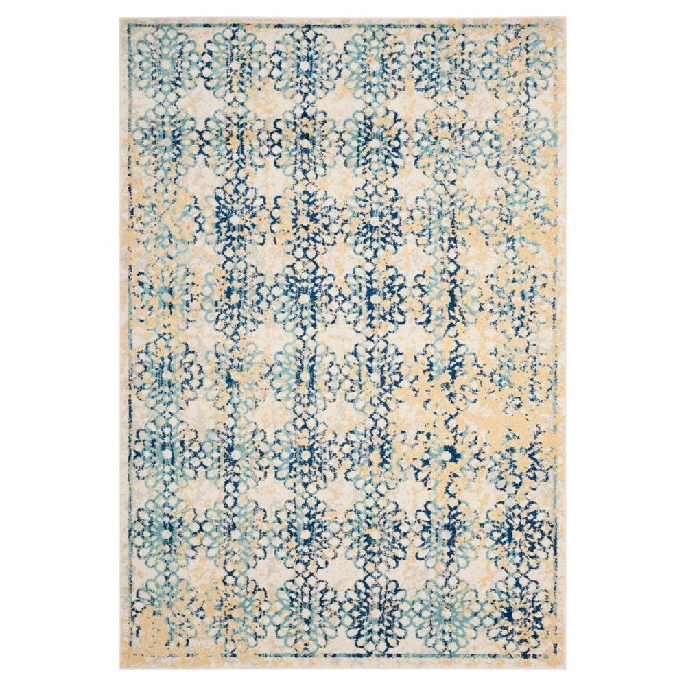 Evoke Rug - Ivory/Blue - (5'1