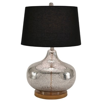 Talia Mercury Glass Table Lamp Gold (Lamp Only)- Abbyson Living