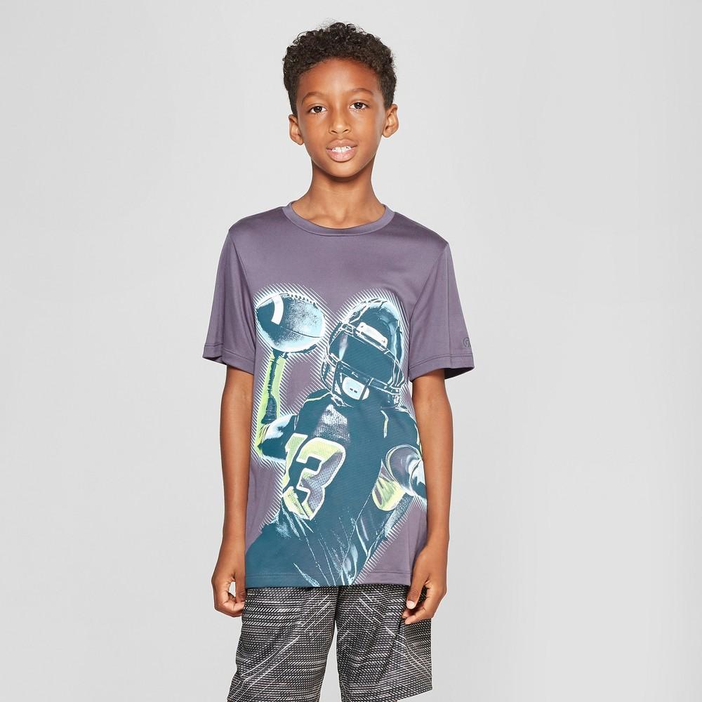 Boys' Go Long Graphic Tech T-Shirt - C9 Champion Dark Grey L, Gray