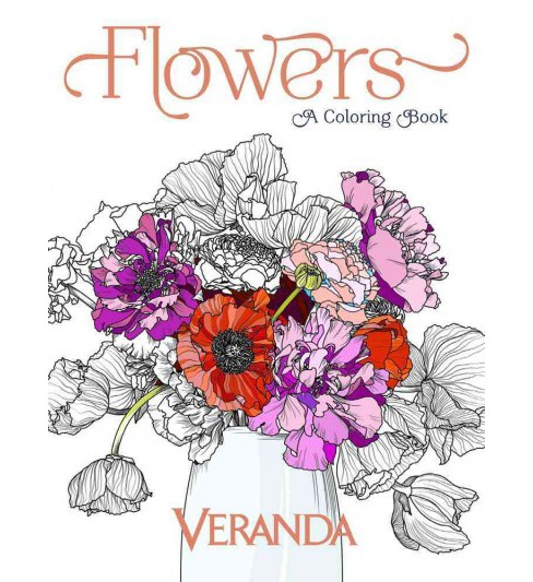 Flowers : A Coloring Book (Paperback) (Veranda) - image 1 of 1