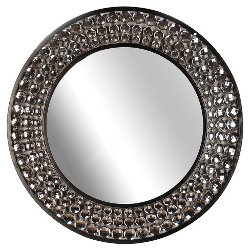 Wall Mirror-Jeweled Mirror - Black - Home Source - image 1 of 2