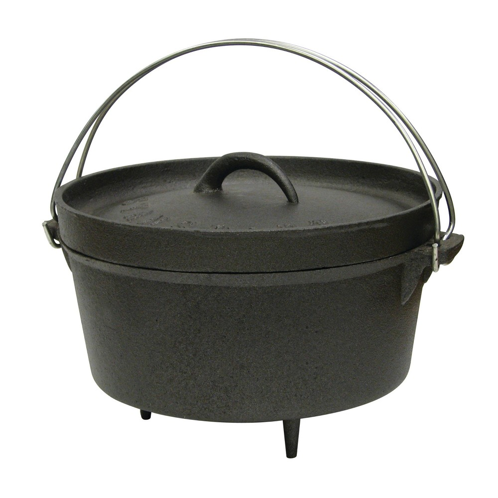 Stansport Cast Iron Dutch Oven with Legs - Black