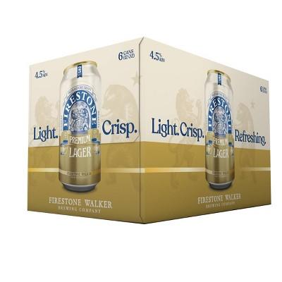 Firestone Walker Lager Beer - 6pk/12 fl oz Cans