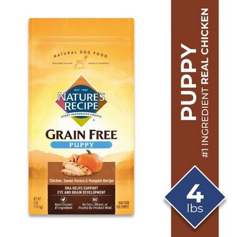Nature's Recipe Grain Free Chicken, Sweet Potato & Pumpkin Recipe Puppy Dry Dog Food - 4lbs - image 1 of 4
