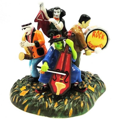 Dept 56 Accessories Monsters Rock Band Village Halloween Witch Dracula  -  Decorative Figurines