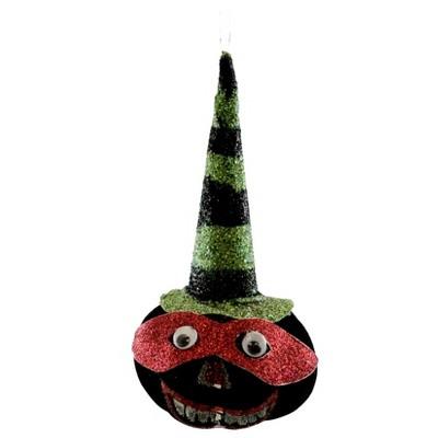 Halloween Pumpkin Faced Ornament  -