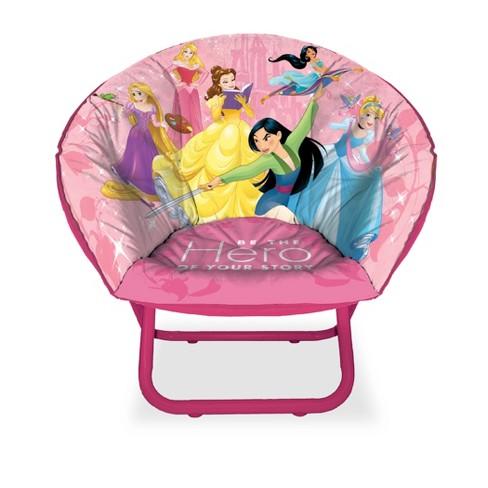 Groovy Princess Kids Saucer Chair Pink Disney Forskolin Free Trial Chair Design Images Forskolin Free Trialorg
