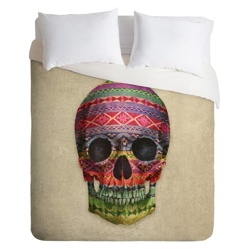 Decorative Skull Lightweight Duvet Cover Twin - Deny Designs® - image 1 of 1
