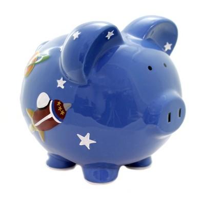 "Bank 8.0"" Astro Pig Piggy Bank Personalize  -  Decorative Banks"