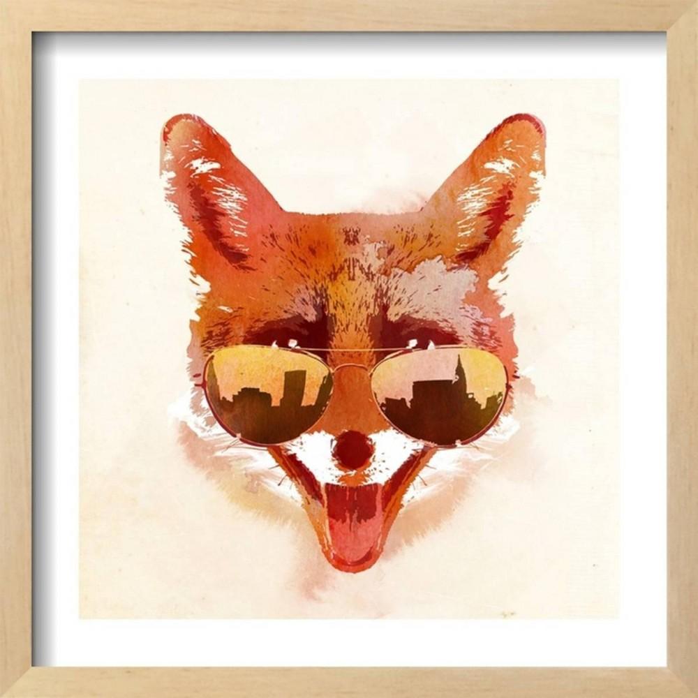 Big Town Fox By Robert Farkas Framed Wall Art Poster Print 17