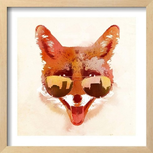 """Big Town Fox By Robert Farkas Framed Wall Art Poster Print 17""""x17"""" - Art.com - image 1 of 3"""