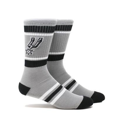 NBA San Antonio Spurs Stripe Crew Socks - L