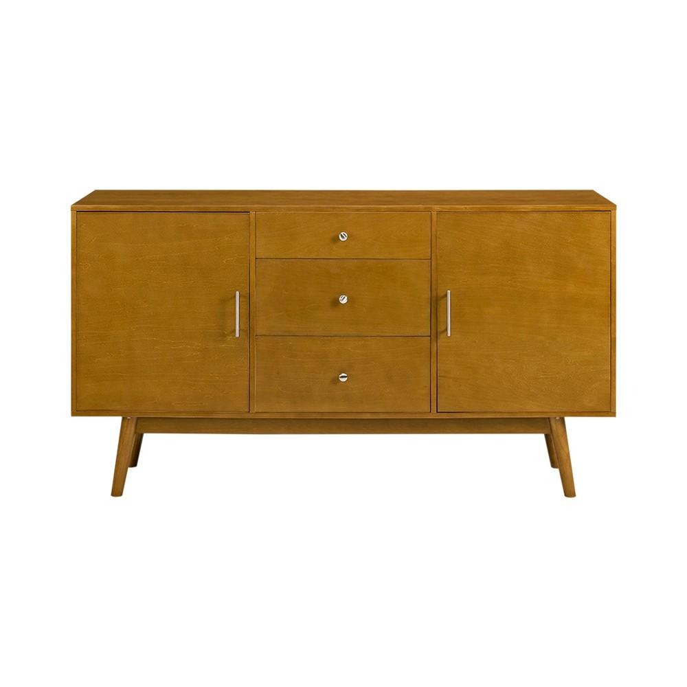 60 Mid - Century Modern Wood TV Console - Acorn - Saracina Home