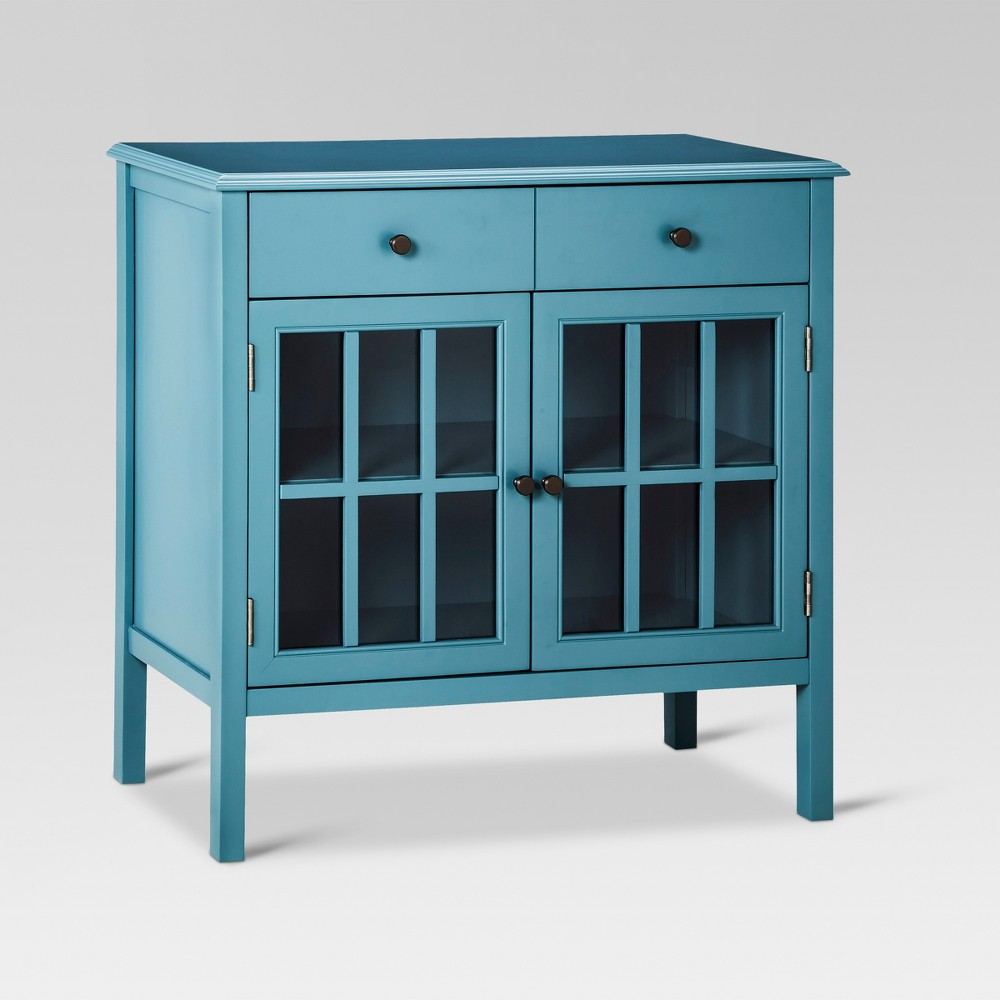 Windham 2 Door Cabinet with Drawers - Threshold, Blue