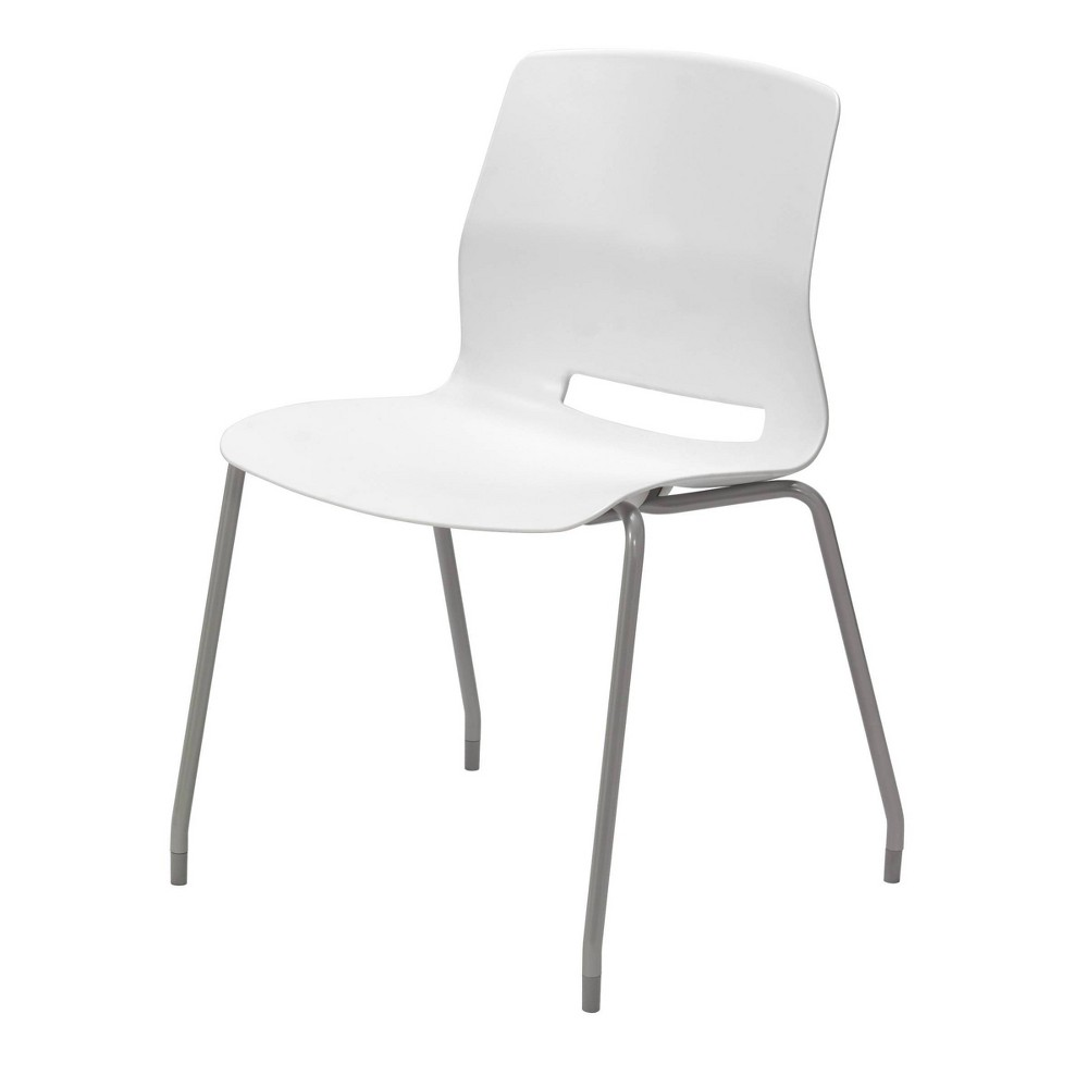 Lola Armless Stack Chair White - Olio Designs