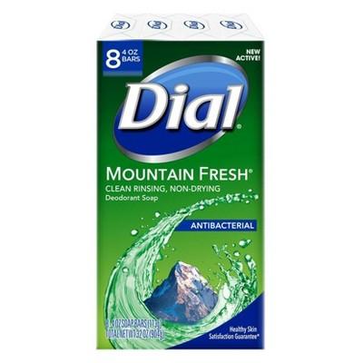 Dial Mountain Fresh Bar Soap - 8ct