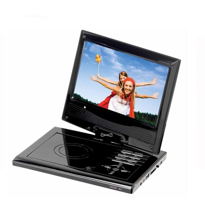 Supersonic Portable DVD Player with USB/SD Inputs and Swivel Display