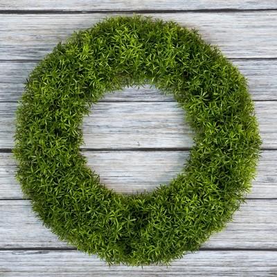 """Round Grass Wreath 20"""" - Pure Garden"""