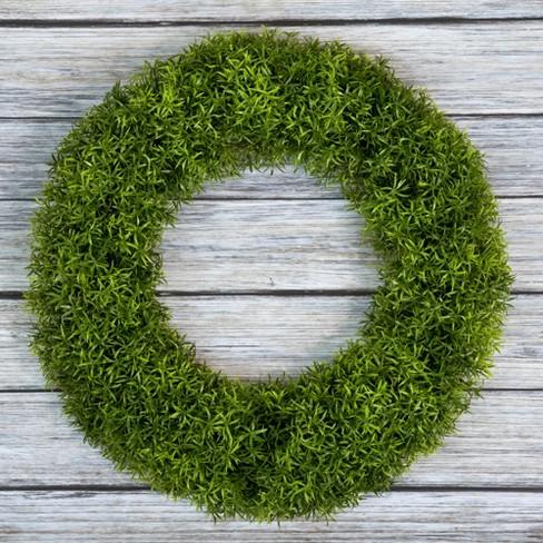 """Round Grass Wreath 20"""" - Pure Garden - image 1 of 3"""