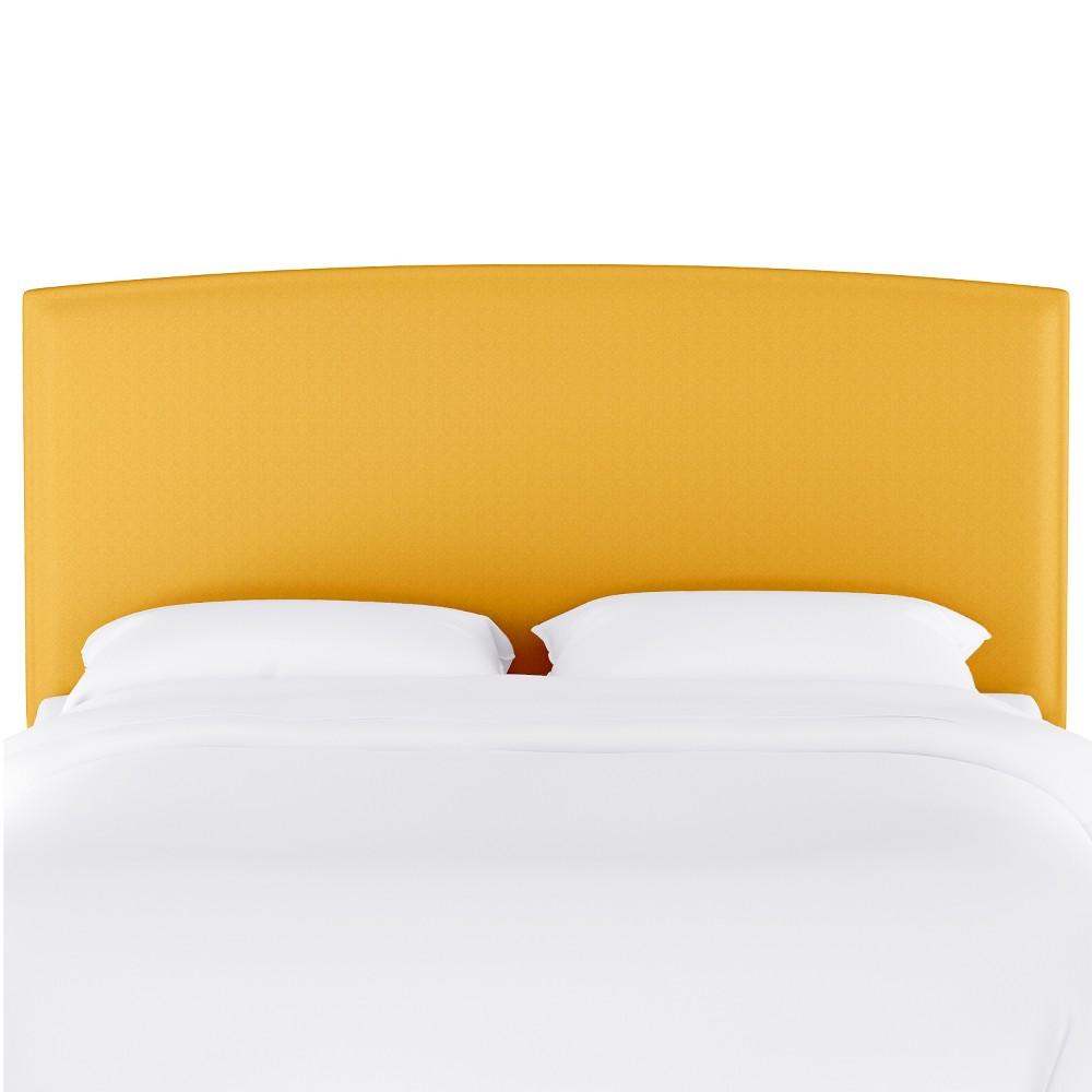 Twin Upholstered Headboard Yellow Velvet - Opalhouse