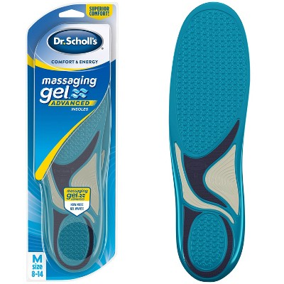 Dr. Scholl's Comfort & Energy Massaging Gel Advanced Insoles for Men - Size (8-14)