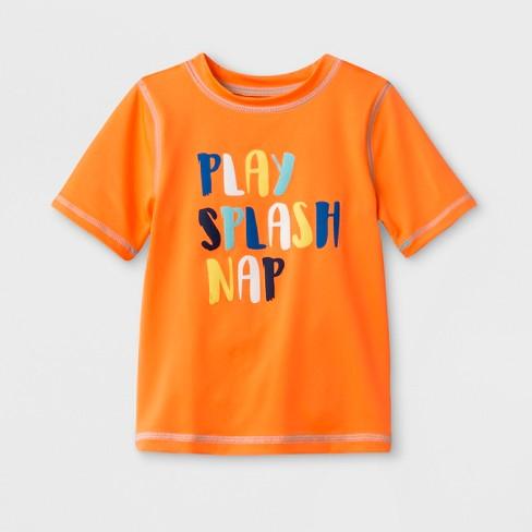 8938931ee4 Toddler Boys' Short Sleeve Rash Guard - Cat & Jack™ Orange : Target