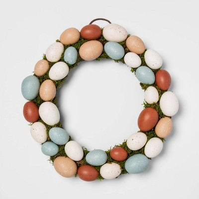 "Threshold 15.5"" Decorative Easter Egg and Vines Wreath"