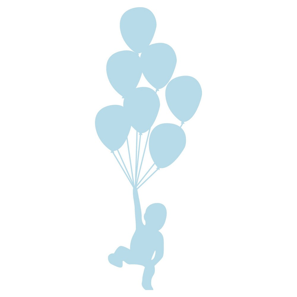 Balloons Wall Decal - Blue, Artic Blue