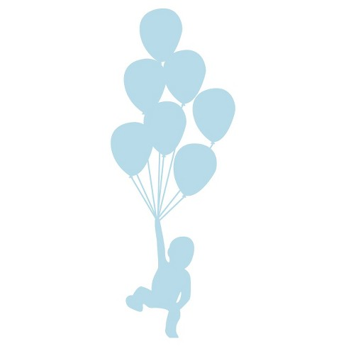 Balloons Wall Decal - Blue - image 1 of 2