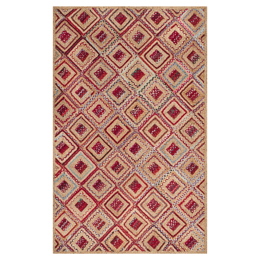 Bailey Area Rug - Natural/Red (5'x8') - Safavieh