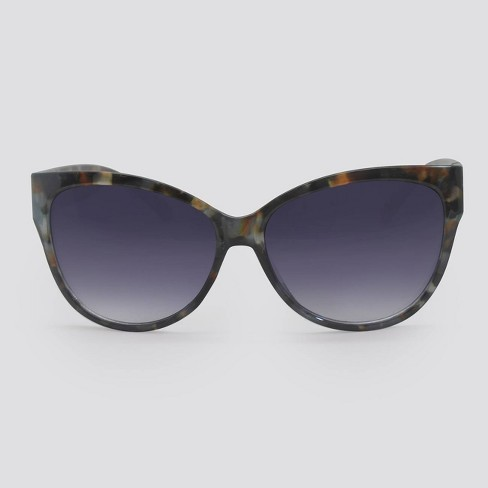 Women's Animal Print Cateye Sunglasses - A New Day™ Gray - image 1 of 2