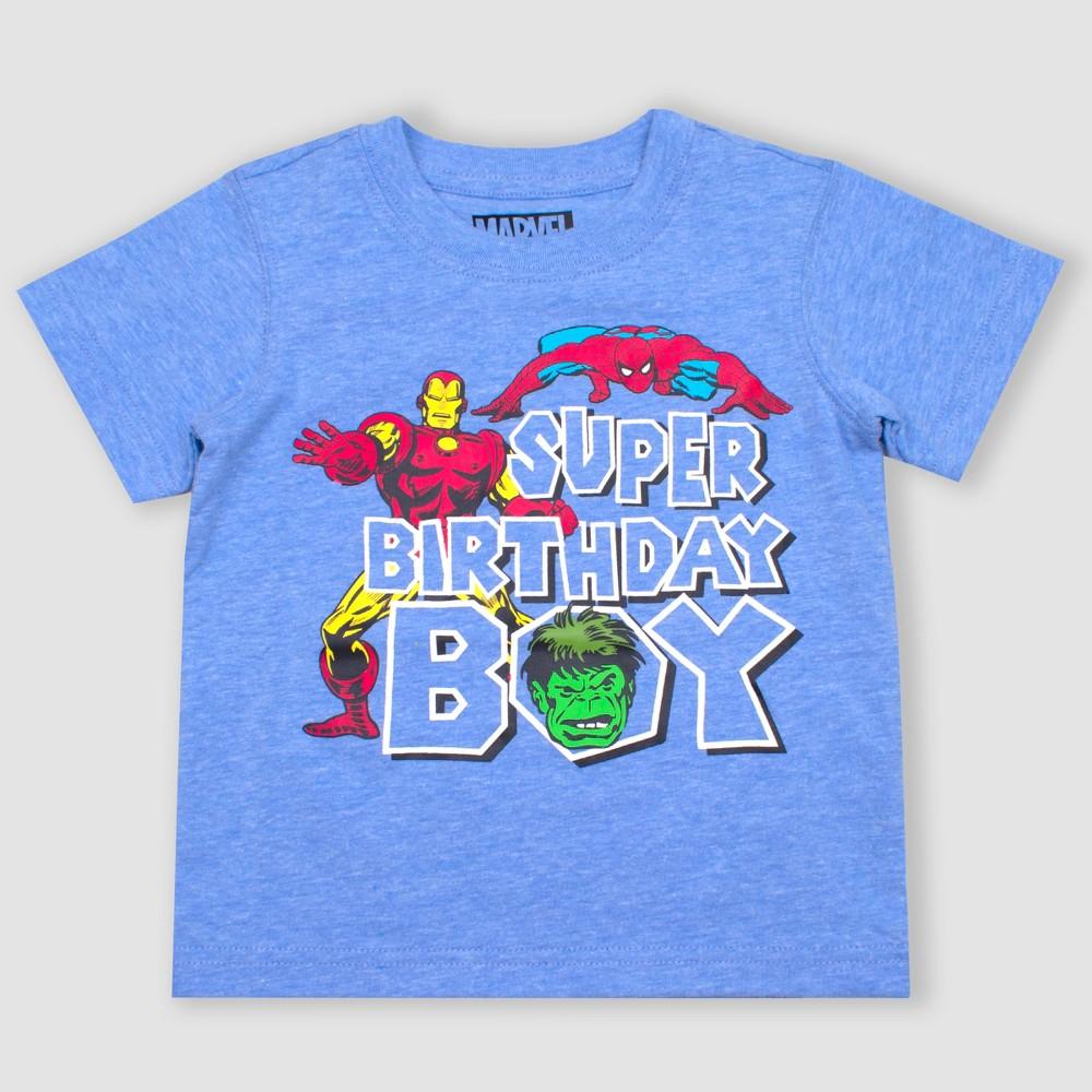 Toddler Boys' Disney Marvel Avengers Short T-Shirt - Blue 2T