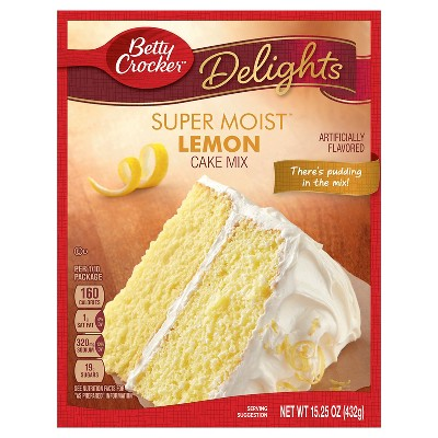 Baking Mixes: Betty Crocker Super Moist Delights Lemon Cake Mix