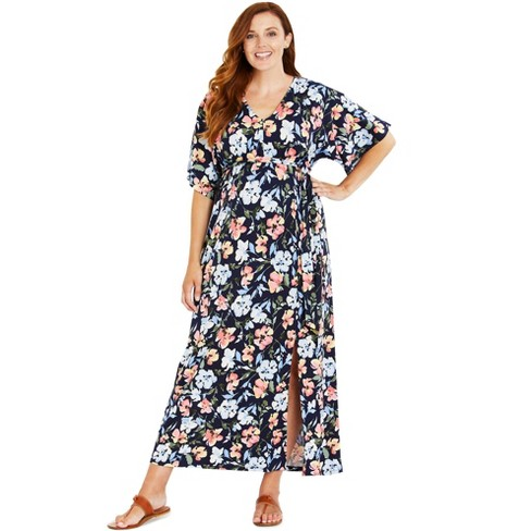 Motherhood Maternity | Drape Sleeve Maxi Dress with Side Slit - image 1 of 2