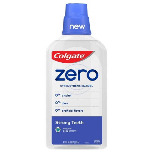 Colgate Zero Mouthwash Strong Teeth - Natural Peppermint - 17.4 fl oz - image 1 of 3
