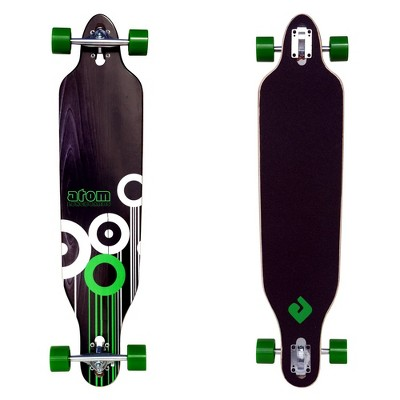 MBS 91047 Atom Drop-Through Longboard Cruiser 41-Inch Maple Deck Skateboarding, Green