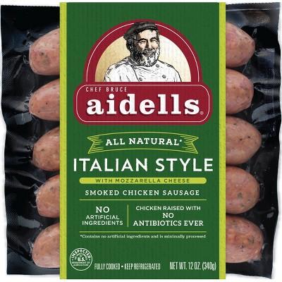 Aidells Italian Style with Mozzarella Cheese Smoked Chicken Sausage - 12oz/5ct