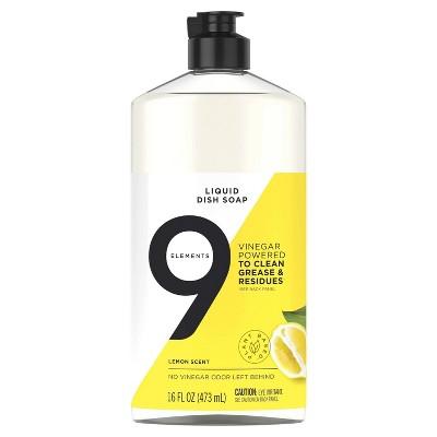 9 Elements Liquid Dish Soap - Lemon - 16 fl oz