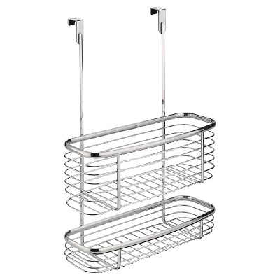 InterDesign Axis Over-the-Cabinet X3 Steel Storage Basket - Chrome (16 )