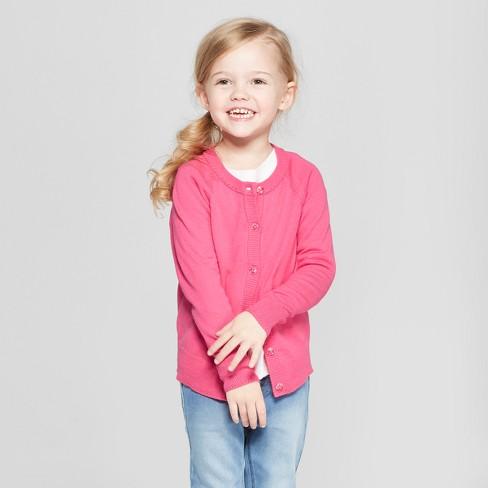 7e78b477b34d Toddler Girls  Cardigan - Cat   Jack™ Paradise Pink 4T   Target