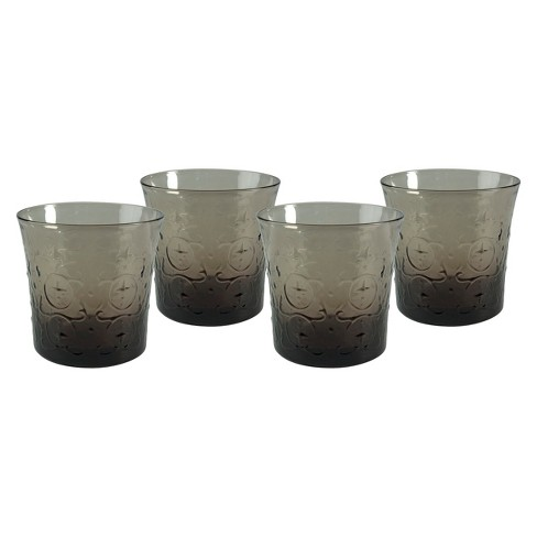 Artland Echo Double Old Fashioned Glass Set of 4 - Gray (10 oz) - image 1 of 1