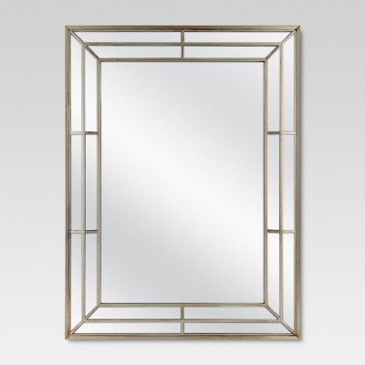 Rectangle Beveled Decorative Wall Mirror Champagne - Threshold™