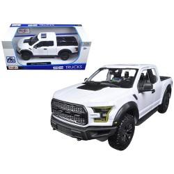 2017 Ford Raptor Pickup Truck White 1/24 Diecast Model Car by Maisto