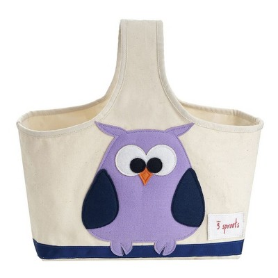 Owl Fabric Storage Caddy - 3 Sprouts