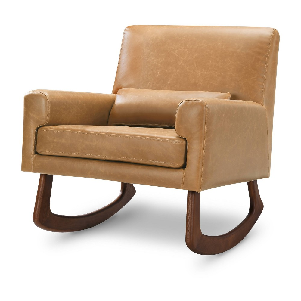 Image of Nursery Works Sleepytime Rocker with Walnut Legs - Walnut, Brown