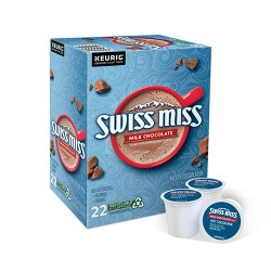 Swiss Miss Milk Chocolate Cocoa - K-Cup Pods - 22ct